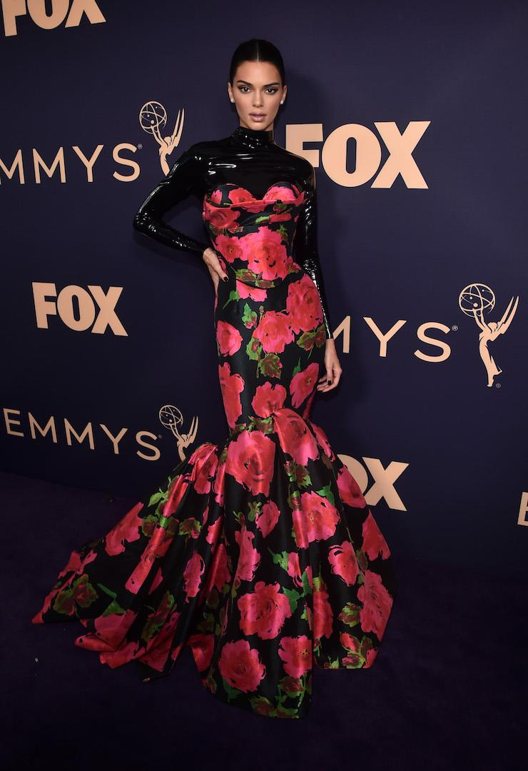 The supermodel wore a Richard Quinn SS20 gown for the 71st Emmy Awards [Photo: Getty]