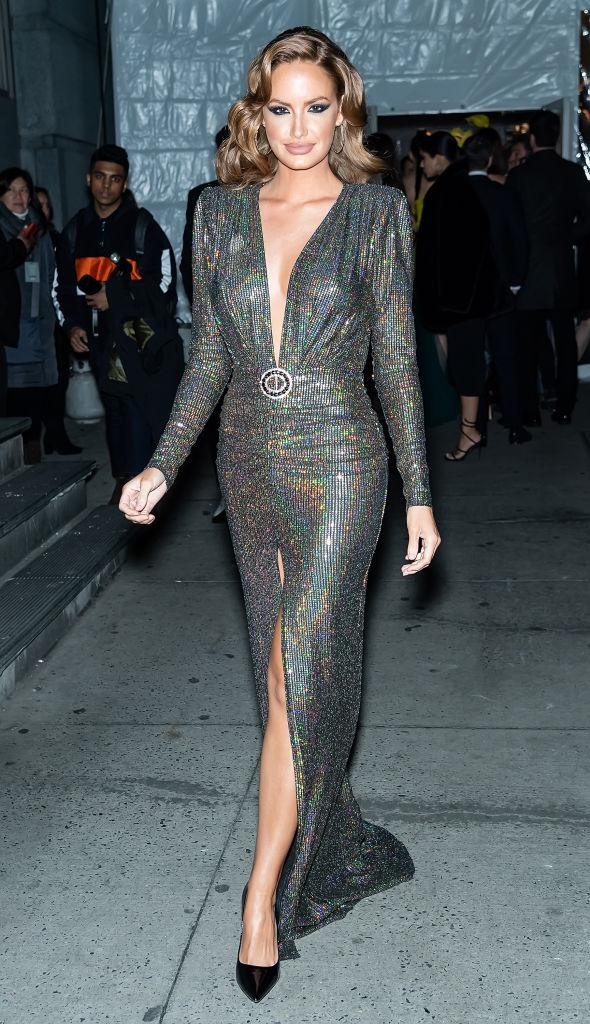 Model Haley Kalil is seen arriving to the 2020 amfAR New York Gala at Cipriani Wall Street on February 05, 2020 in New York City.