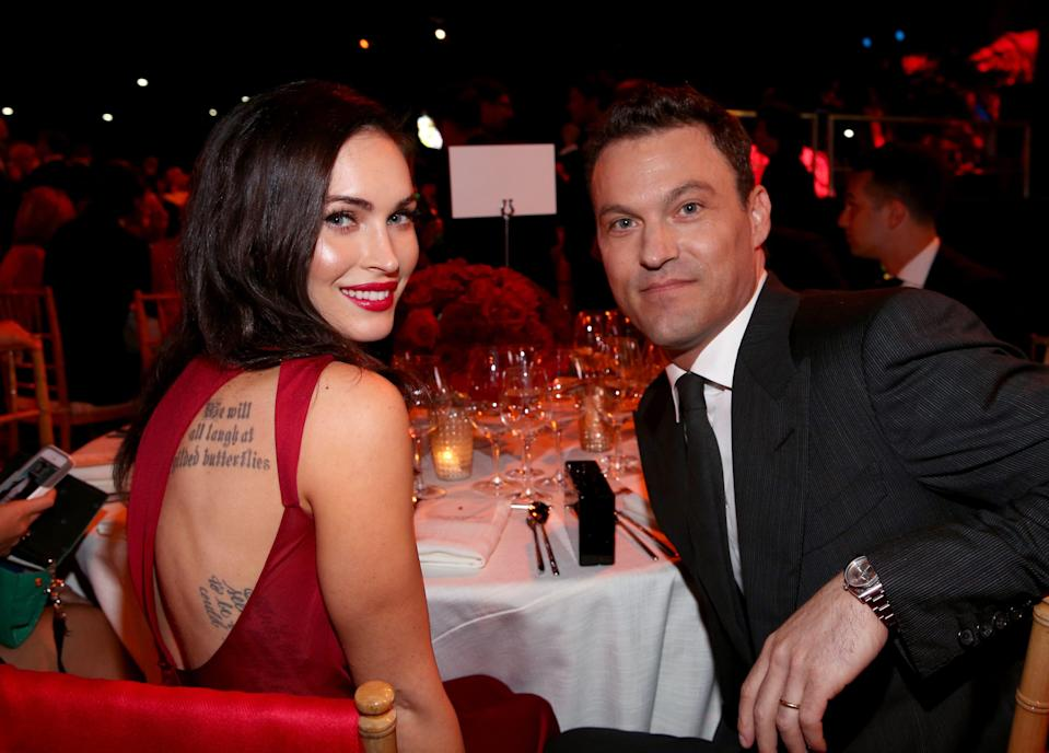 Megan Fox and Brian Austin Green are seen here in Los Angeles in 2014.