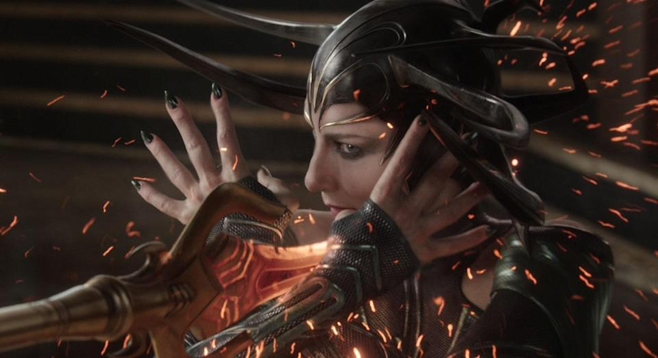 The motives of Cate Blanchett's Hela quickly become clear in 'Thor: Ragnarok' (Disney/Marvel Studios)