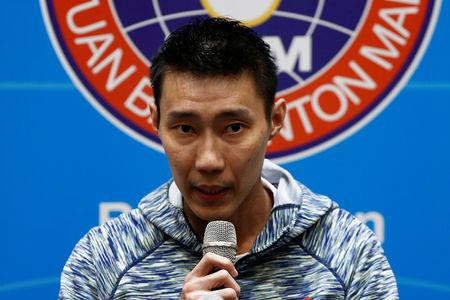 Malaysia's badminton player Lee Chong Wei speaks during a news conference in Kuala Lumpur