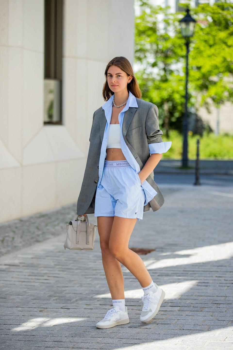 <p>There's something so elevated about throwing on a pair of neutral sneakers. Whether you choose gray, blush pink, beige, or even white, you can't go wrong with a pair of kicks in these calming colors.</p>