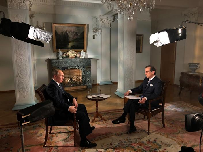 Russian President Vladimir Putin sits for an interview with Chris Wallace