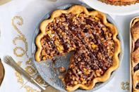 """<p>Yes, fine, there are many <em>other</em> delicious <a href=""""https://www.countryliving.com/food-drinks/g1384/thanksgiving-desserts/"""" rel=""""nofollow noopener"""" target=""""_blank"""" data-ylk=""""slk:Thanksgiving dessert"""" class=""""link rapid-noclick-resp"""">Thanksgiving dessert</a> options available, like trifle, ice cream, <a href=""""https://www.countryliving.com/food-drinks/g4716/thanksgiving-cakes/"""" rel=""""nofollow noopener"""" target=""""_blank"""" data-ylk=""""slk:Thanksgiving cake"""" class=""""link rapid-noclick-resp"""">Thanksgiving cake</a> and even <a href=""""https://www.countryliving.com/food-drinks/g3845/thanksgiving-cookies/"""" rel=""""nofollow noopener"""" target=""""_blank"""" data-ylk=""""slk:Thanksgiving cookies"""" class=""""link rapid-noclick-resp"""">Thanksgiving cookies</a>. But those are secondary treats, to be eaten only if you (somehow) have room. When it comes to capping off the annual feast, nothing could replace a gorgeous array of Thanksgiving pies.</p>"""