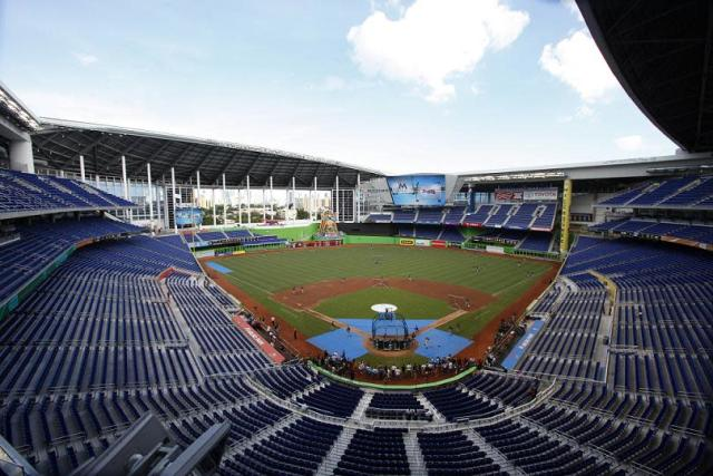 Marlins Park will be tested if Hurricane Irma makes landfall in Miami as Category 4 or 5 storm. (AP)