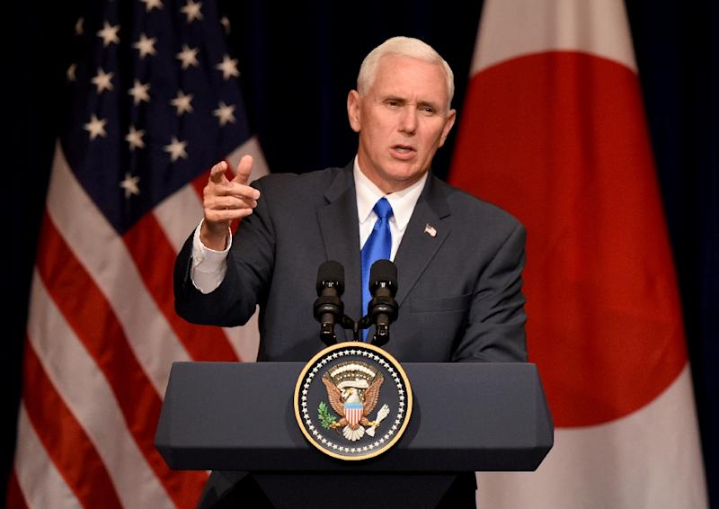 US VP Pence arrives in Japan to focus on trade