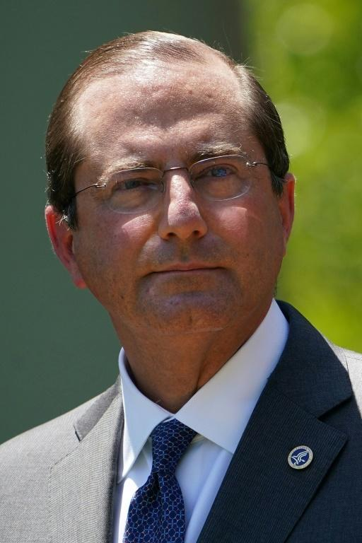 US Secretary of Health and Human Services Alex Azar, seen here in May 2020, will be the highest-ranking US cabinet official to visit Taiwan in decades