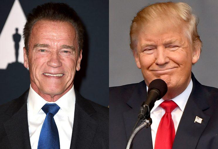 Arnold Schwarzenegger on Donald Trump: 'I think he's in love with me'