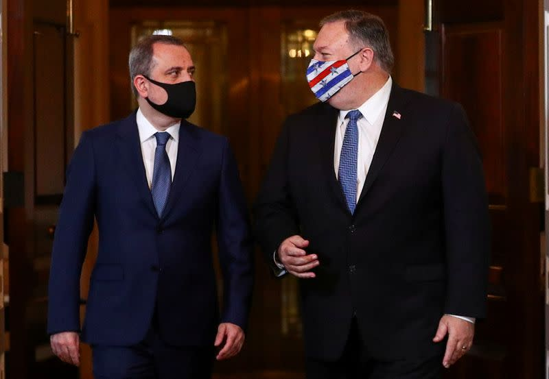 U.S. Secretary of State Pompeo meets with Armenia's Foreign Minister Mnatsakanyan at the State Department in Washington