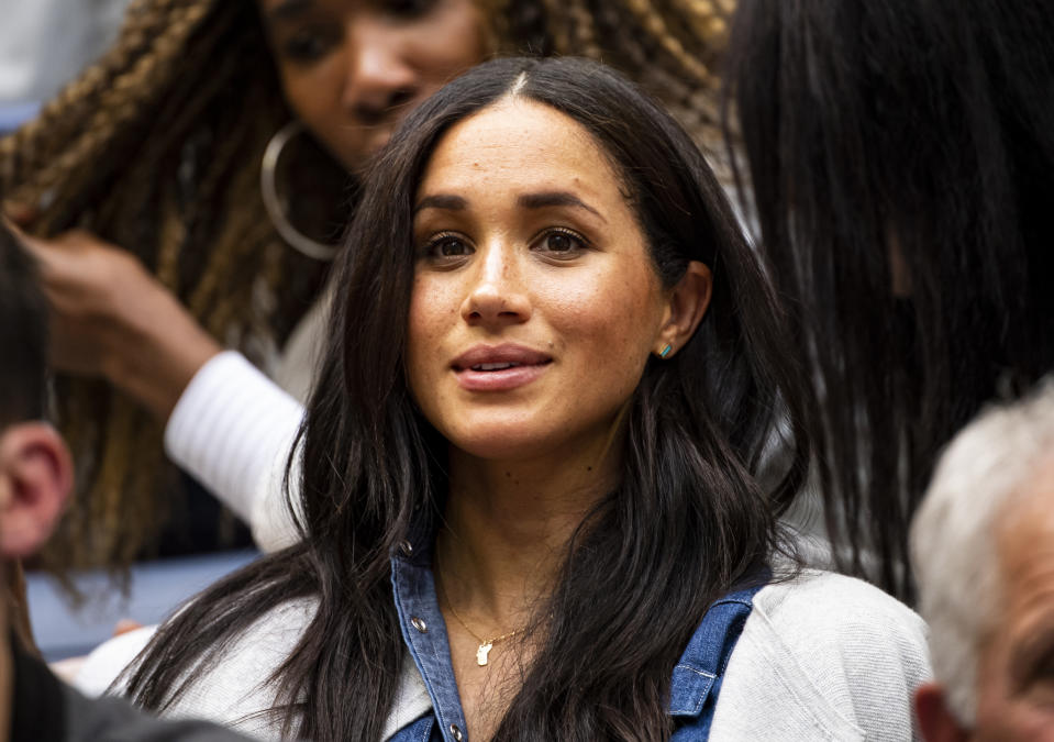 Meghan Markle watches her friend Serena Williams play at the US Open. (Photo: Getty)