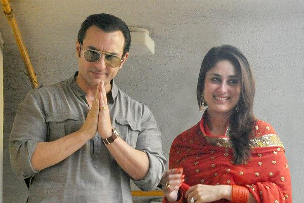 <b>1. Saif Ali Khan & Kareena Kapoor</b><br>Bollywood's most awaited wedding is finally over. Kareena married the B-town Nawab Saif on 16th October. The marriage took place at Saif's Bandra home with close friends and family. Kareena was seen in a green punjabi suit, while her fiance showed up in a grey kurta-pyjama.