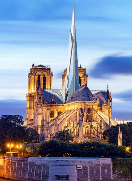PHOTO: Parisian architect Alexandre Chassang imagines a glass spire resembling a shard. (Alexandre Chassang/Getty Images)