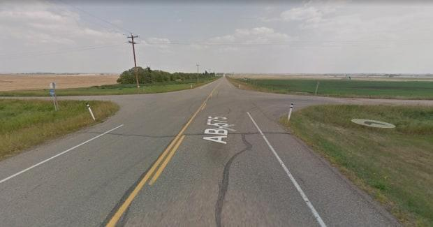 A preliminary investigation showed that a side-by-side was travelling southboundon Range Road 264 when it entered Highway 575 and struck an eastbound SUV, RCMP said. (Google Maps - image credit)