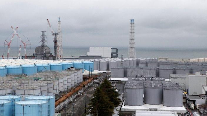 Storage tanks for radioactive water are seen at Tokyo Electric Power Co's Fukushima Daiichi nuclear power plant