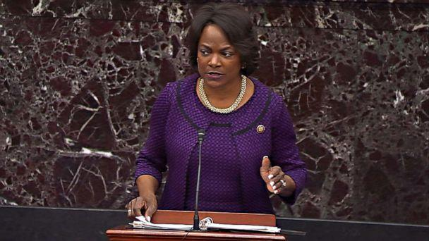 PHOTO: House impeachment manager Rep. Val Demings speaks during impeachment trial of President Donald Trump in the Senate at the U.S. Capitol on Jan. 24, 2020, in Washington. (ABC )