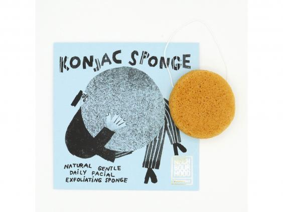 The sponge is made from root vegetable fibres, so ins't bad for the planet like man-made sponges are (Neighbourhood Botanicals)