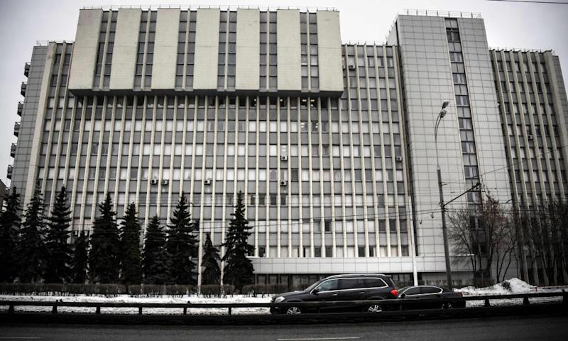 The State Scientific Research Institute of Organic Chemistry and Technology in Moscow, photographed in 2018. Novichoks were allegedly developed by Soviet scientists at the institute in the 1970s and 1980s.