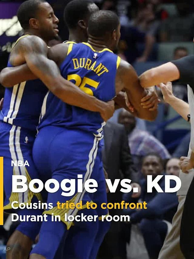 DeMarcus Cousins tried to confront Kevin Durant in locker room after ejection