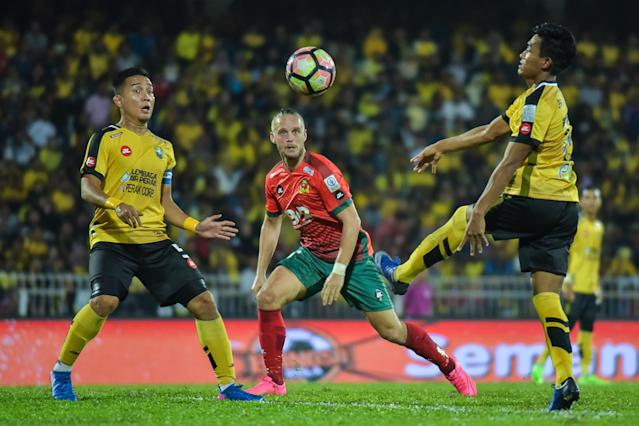 Shahrom Kalam wasn't too happy that his Perak side couldn't hold on to the lead and had to share points for the third match in a row