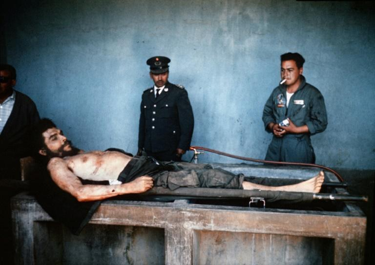The body of Ernesto 'Che' Guevara was on public display in October 1967 after his capture by Bolivian forces and CIA agents (AFP/MARC HUTTEN)