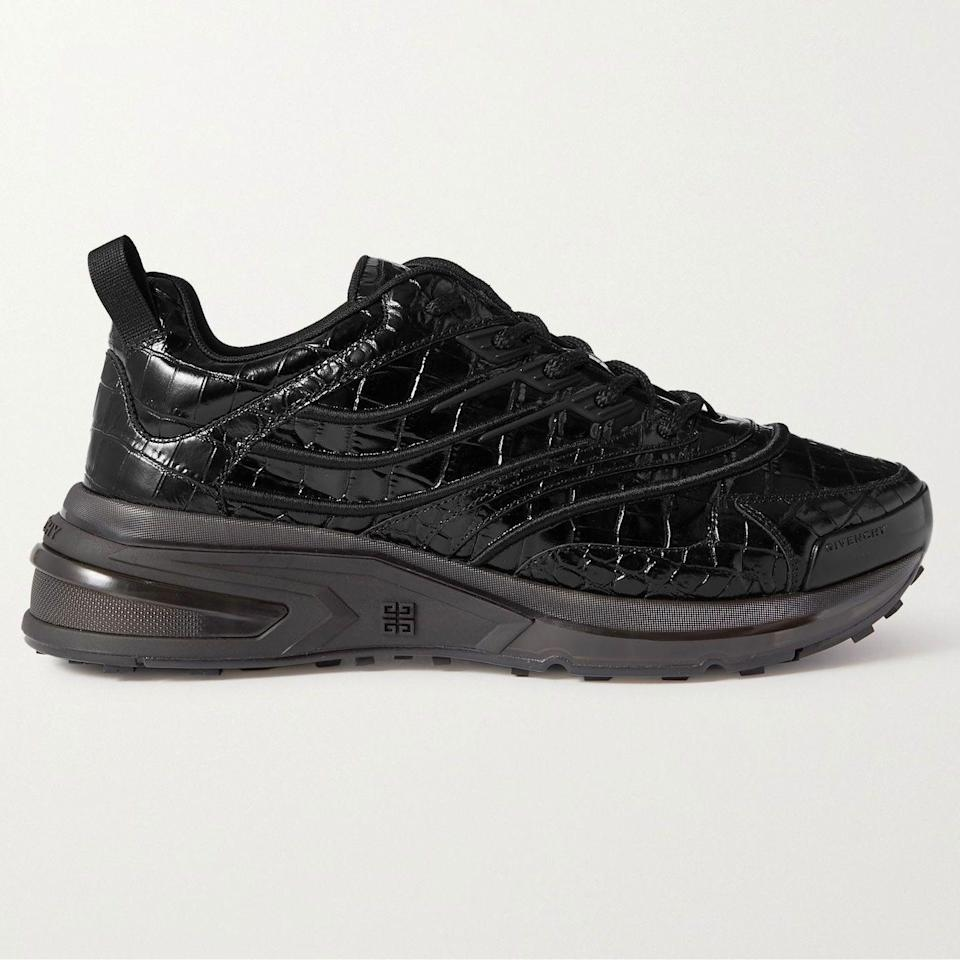 """<p><strong>Giv 1 Croc-Effect Leather Sneakers</strong></p><p>mrporter.com</p><p><strong>$995.00</strong></p><p><a href=""""https://go.redirectingat.com?id=74968X1596630&url=https%3A%2F%2Fwww.mrporter.com%2Fen-us%2Fmens%2Fproduct%2Fgivenchy%2Fshoes%2Flow-top-sneakers%2Fgiv-1-croc-effect-leather-sneakers%2F560971904675266&sref=https%3A%2F%2Fwww.esquire.com%2Fstyle%2Fmens-accessories%2Fadvice%2Fg2538%2Fluxury-sneaker-brands-worth-spending-money%2F"""" rel=""""nofollow noopener"""" target=""""_blank"""" data-ylk=""""slk:Shop Now"""" class=""""link rapid-noclick-resp"""">Shop Now</a></p><p>Matthew Williams' Givenchy is off to a roaring start, and the sneakers are not to be ignored. Not that it'd be particularly easy to overlook the Giv 1, with its (not too) chunky silhouette and, in this particular take, a shiny croc-embossed upper. Only time will tell how the new Givenchy approaches the sneaker world in the coming months and years, but this certainly feels like a declaration of intent.</p>"""
