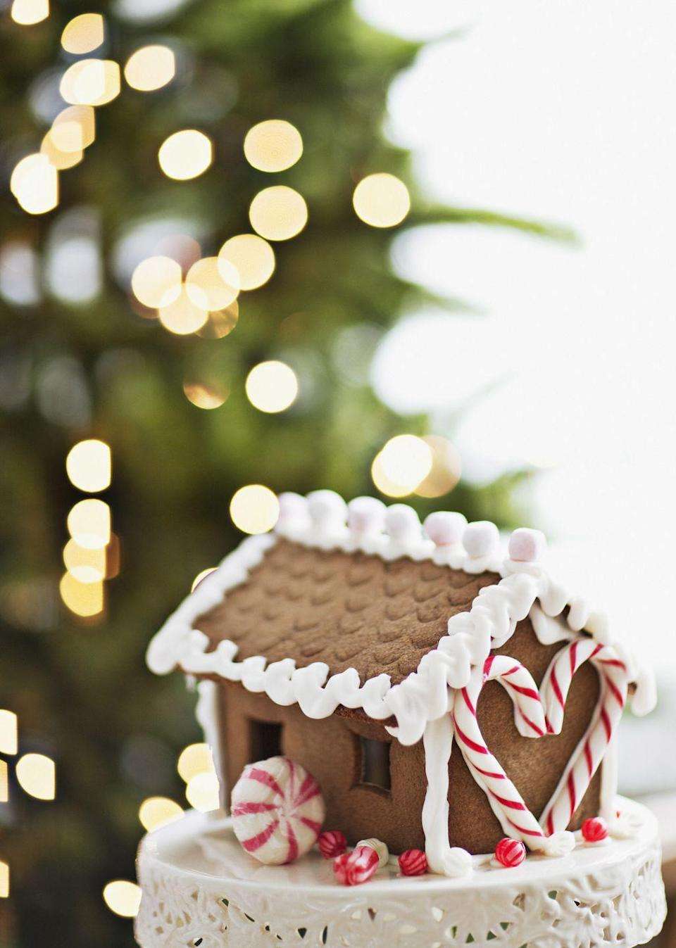 """<p>Add a nostalgic element to your party by setting out supplies to make gingerbread houses and hosting an all-in-good-fun competition to see who can construct the sweetest abode. (Award an oven mitt to the winner!) Keep it simple by stocking up on <a href=""""https://go.redirectingat.com?id=74968X1596630&url=http%3A%2F%2Fwww.worldmarket.com%2Fcategory%2Ffood-and-drink%2Ffood%2Fbaking-products.do%3Ftemplate%3DPLA%26plfsku%3D514148%26camp%3Dppc%253AGooglePLA%253Anone%253A142155926699custom3bestseller%2526custom4%2526custom0%26adpos%3D1o1%26creative%3D50632136459%26device%3Dc%26network%3Dg%26gclid%3DCOjYrseRsNACFctMDQodbuoAjA&sref=https%3A%2F%2Fwww.countryliving.com%2Fdiy-crafts%2Fhow-to%2Fg2218%2Fchristmas-party-ideas%2F"""" rel=""""nofollow noopener"""" target=""""_blank"""" data-ylk=""""slk:affordable gingerbread kits"""" class=""""link rapid-noclick-resp"""">affordable gingerbread kits</a> that come ready to assemble—and be sure to choose an official judge!</p>"""
