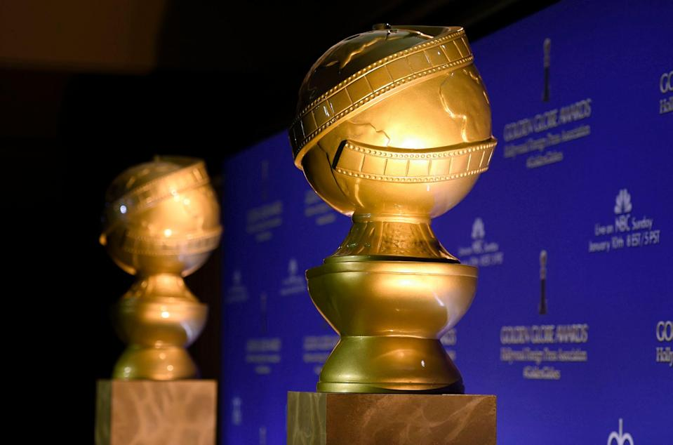 Golden Globe statues appear at the 73rd annual Golden Globe Awards nominations at the Beverly Hilton hotel in Beverly Hills, Calif.