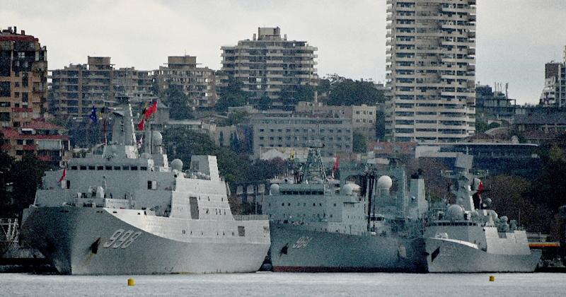 Chinese warships dock at Sydney's Garden Island