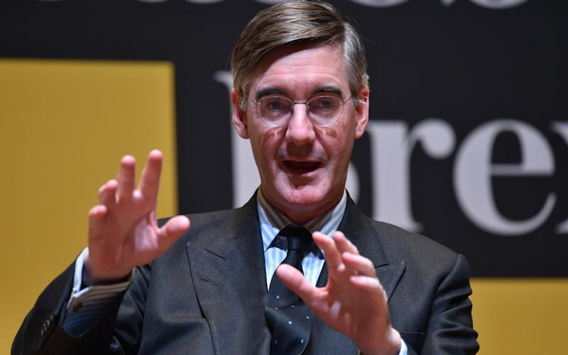 House of Commons leader Jacob Rees-Mogg at a Telegraph live Brexit event last night - Geoff Pugh