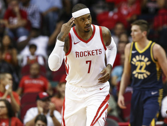 Carmelo Anthony is expected to start in his Portland debut. (Troy Taormina-USA Today)