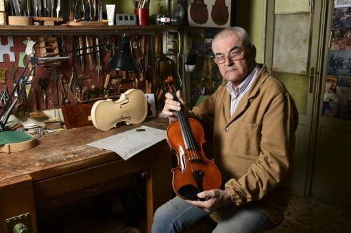 One of Cremona's oldest luthiers, Hungary's Stefano Conia, aged 74, says 'If I stopped making violins, life for me would be over'