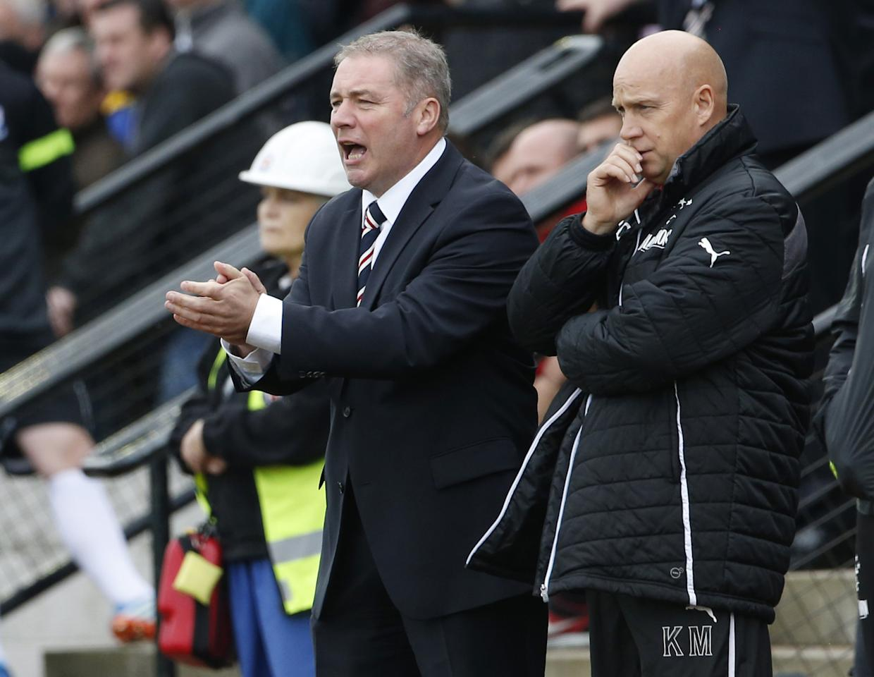 Rangers manager Ally McCoist during the Scottish League One match at Somerset Park, Ayr.