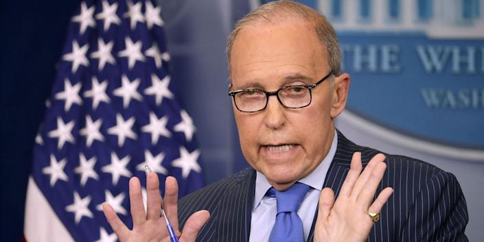 Larry Kudlow, President Donald Trump's top economic adviser