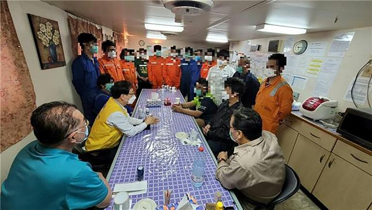 Tehran said in February that all the crew except the captain would be allowed to leave the country as a humanitarian gesture, but most of them remained on board to maintain the ship