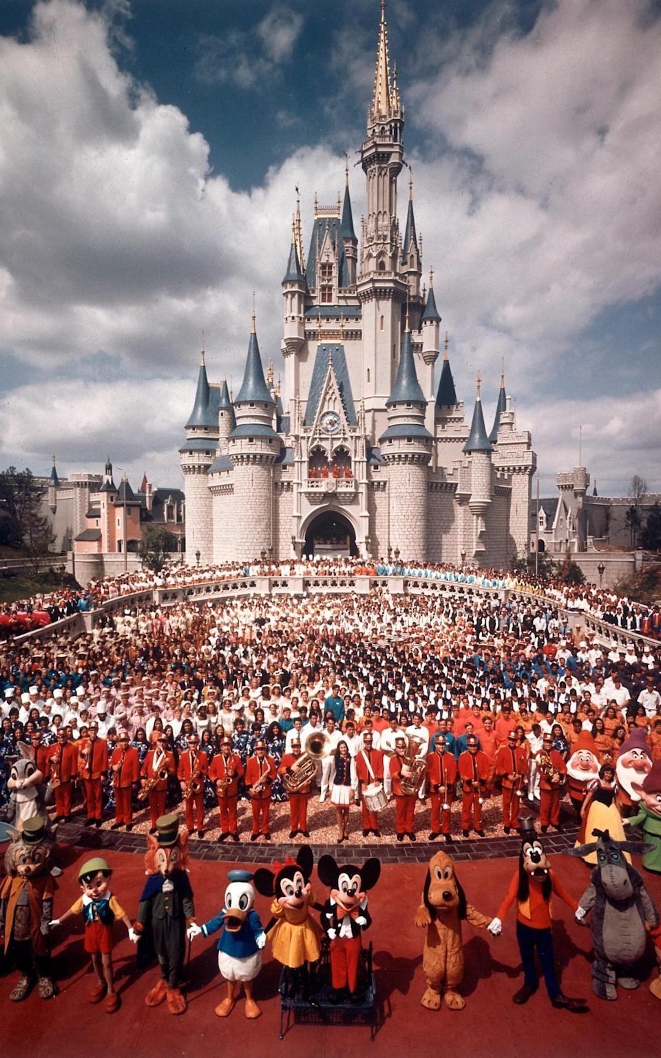 The grand opening of Walt Disney World in 1971