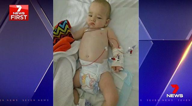 Doctors say it is plausible that Logan Wardrop became ill because of a shopping trolley. Photo: Supplied