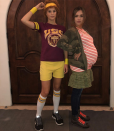 <p>The expectant actress found the perfect costume for her — the main character in <em>Juno</em>! She even got friend Kelly Sawyer to play Juno's baby daddy Paulie. (Photo: Instagram/Jessica Alba) </p>