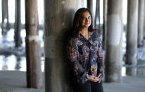 "Meditation expert, author and speaker Mallika Chopra poses for a portrait on Dec. 21, 2020, in Santa Monica, Calif. Chopra is a ""mindfulness consultant"" on the new Apple TV+ animated children's series ""Stillwater."" (AP Photo/Chris Pizzello)"