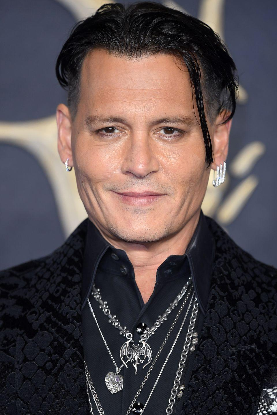 """<p>Depp <a href=""""https://www.cbsnews.com/pictures/actors-who-dropped-out-of-school/"""" rel=""""nofollow noopener"""" target=""""_blank"""" data-ylk=""""slk:dropped out"""" class=""""link rapid-noclick-resp"""">dropped out</a> of school when he was 15 to pursue a career as a rock star. Apparently, acting was his fallback plan.</p>"""
