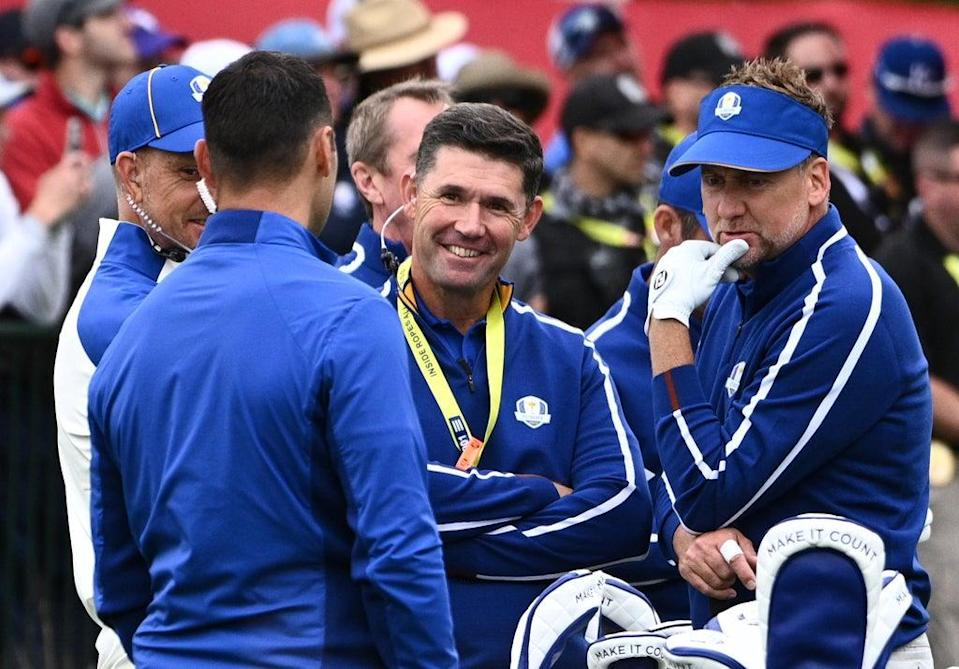 Team Europe captain Padraig Harrington during the second preview day of the 43rd Ryder Cup at Whistling Straits (PA Wire)