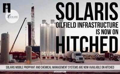 Solaris mobile proppant and chemical management systems are available now on Hitched.