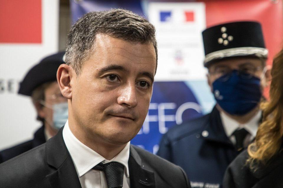 Darmanin suspend un commissaire après une carte de voeux ironique sur les violences policières (photo d'illustration prise le 31 décembre 2020)  (Photo:  Christophe PETIT TESSON / POOL / AFP)
