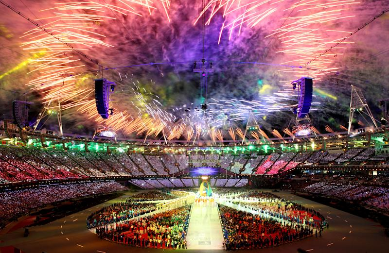 during the Closing Ceremony on Day 16 of the London 2012 Olympic Games at Olympic Stadium on August 12, 2012 in London, England.