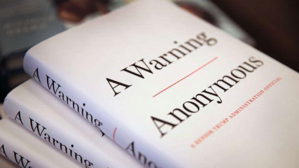 PHOTO: Copies of 'A Warning' by Anonymous are offered for sale at a Barnes & Noble store on Nov. 19, 2019 in Chicago. (Scott Olson/Getty Images, FILE)