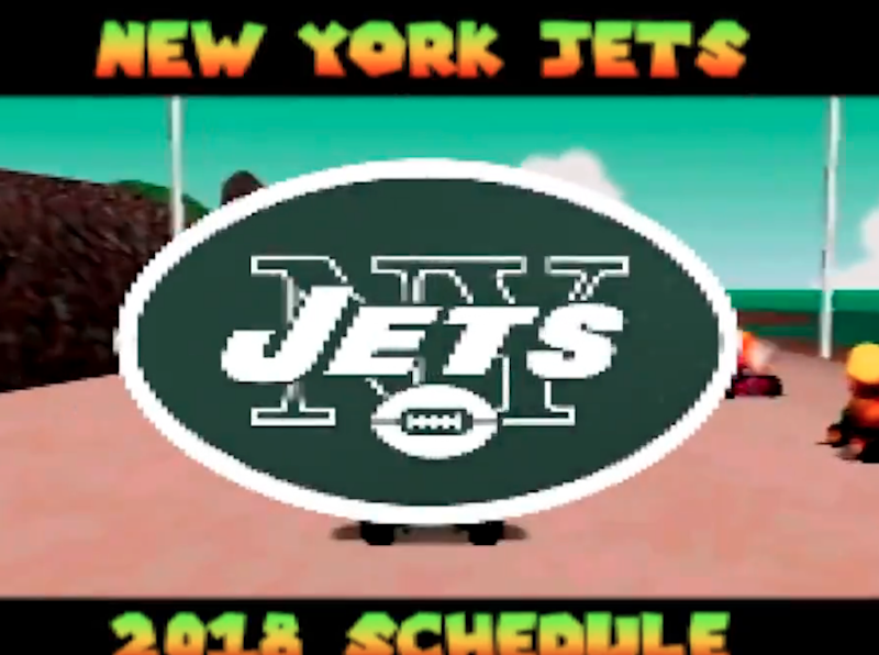 Jets announce 2018 schedule with awesome Mario Kart video, possibly their only win of the year