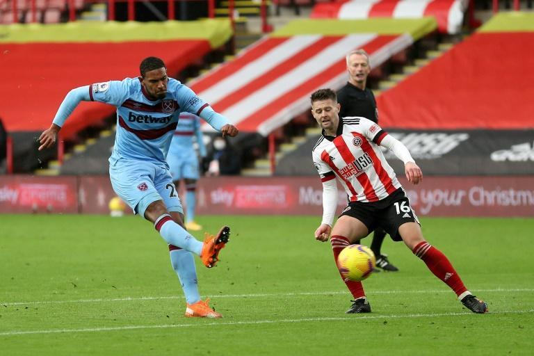 Sebastien Haller (left) produced a 'fabulous finish' to give West Ham a 1-0 win over Sheffield United