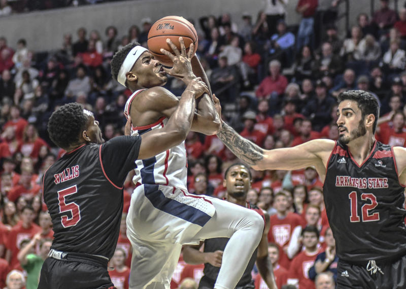 Shuler scores 20, leads Ole Miss over Arkansas State 71-43
