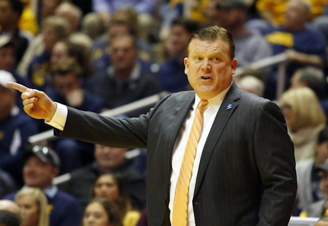 Brad Underwood and Oklahoma State won their fifth straight game Saturday at West Virginia. They host Baylor Wednesday night. (Getty)