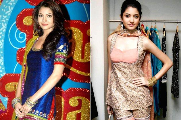 """<p class=""""MsoNormal""""><strong style="""""""">4. Anushka Sharma</b>: <br>If you thought wedding outfits was all about heavy lehengas, think again! This B'wood diva gave a whole new dimension to wedding attire, rocking the screen in colourful salwar kameezes. Bright colours like orange, purple and pinks became a fashion favourite after the style icon donned them in her movie <em style="""""""">'Band Baaja Baaraat'</em>.</p>"""