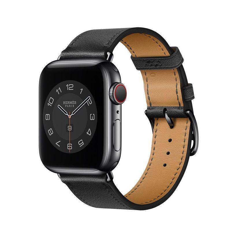 """<p><strong>Hermès</strong></p><p>apple.com</p><p><strong>$339.00</strong></p><p><a href=""""https://go.redirectingat.com?id=74968X1596630&url=https%3A%2F%2Fwww.apple.com%2Fshop%2Fproduct%2FMX2P2AM%2FA%2Fapple-watch-herm%25C3%25A8s-40mm-noir-swift-leather-single-tour&sref=https%3A%2F%2Fwww.esquire.com%2Flifestyle%2Fg36008308%2Fluxury-apple-watch-bands%2F"""" rel=""""nofollow noopener"""" target=""""_blank"""" data-ylk=""""slk:Buy"""" class=""""link rapid-noclick-resp"""">Buy</a></p><p>Really emphasize the <em>luxury</em> part by opting for the leather band Hermès created for Apple.</p>"""